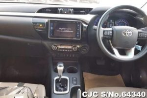 interior of double cab hilux pickup 2015